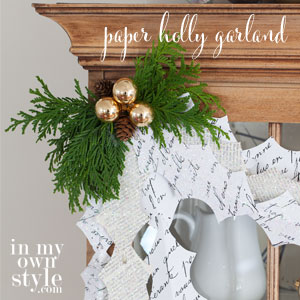 Free-Christmas-holly-shape-free-printable-to-make-a-paper-garland