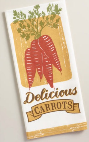 carrot dish towel