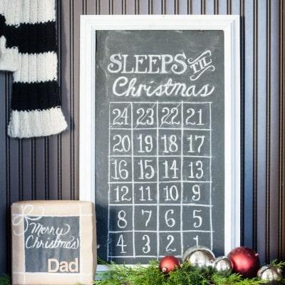 Christmas Chalkboard Countdown