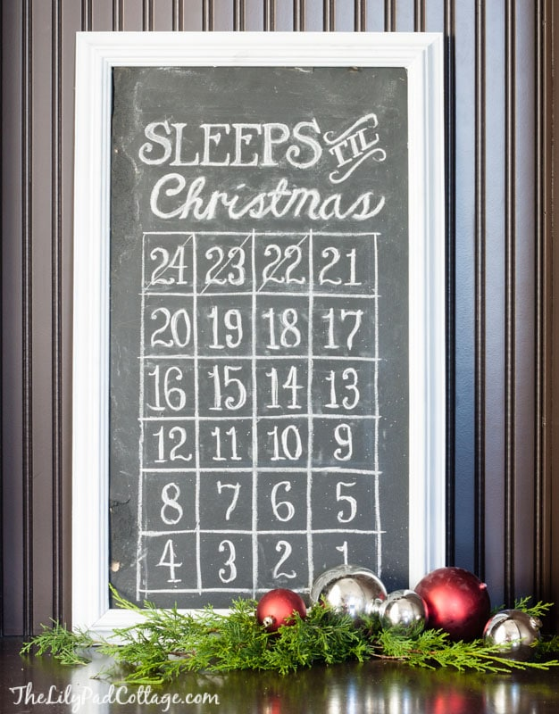 christmas chalkboard countdown - Countdown Till Christmas Decoration