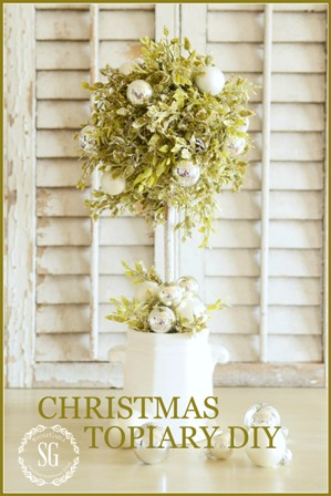 CHRISTMAS TOPIARY DIY-stonegableblog.com - Button