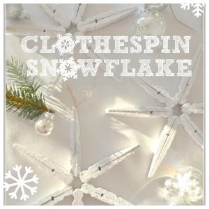 CLOTHESPIN SNOWFLAKES-button-stonegableblog.com