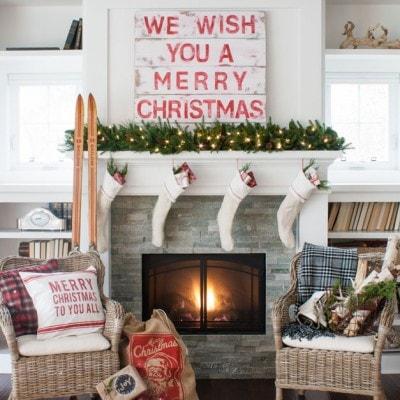 Cozy Christmas Mantel