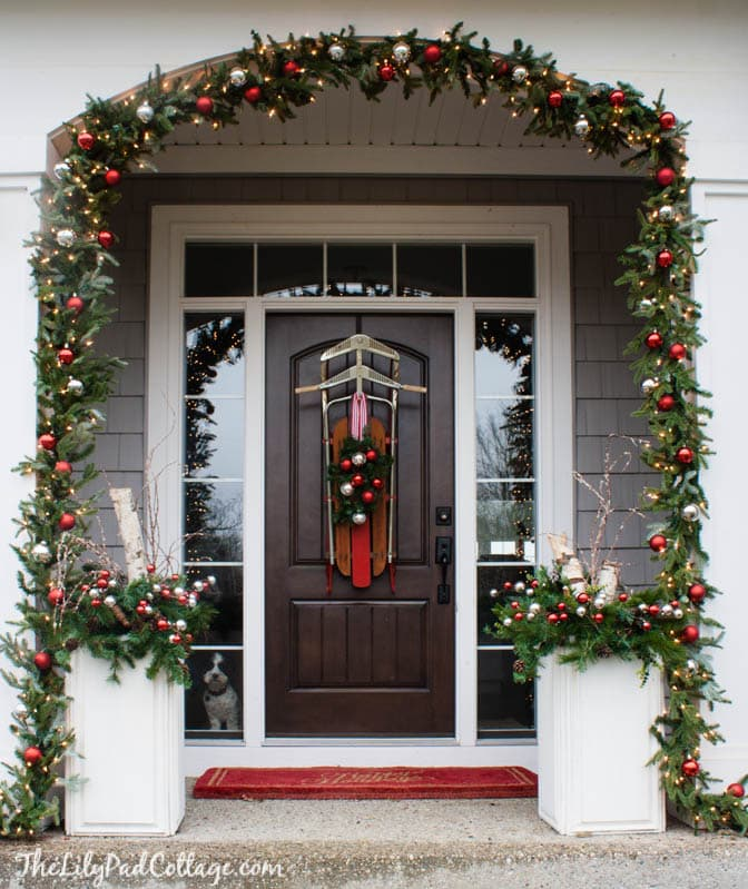 christmas front door decor - Christmas Front Door Decor