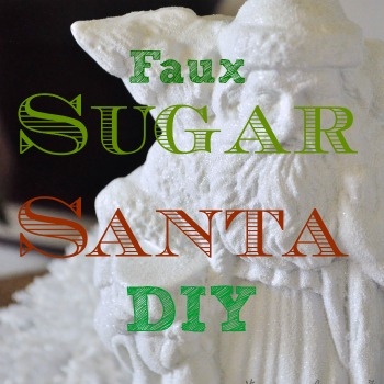 Faux sugar Santa DIY