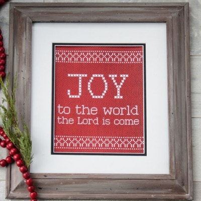 Free Joy to the World Printable