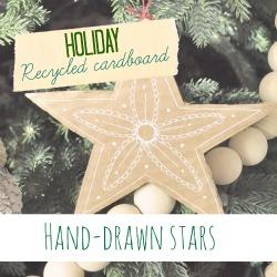 Rcycled cardboard stars