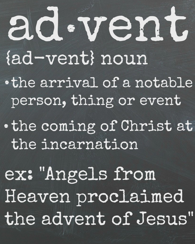 Advent Definition Printable