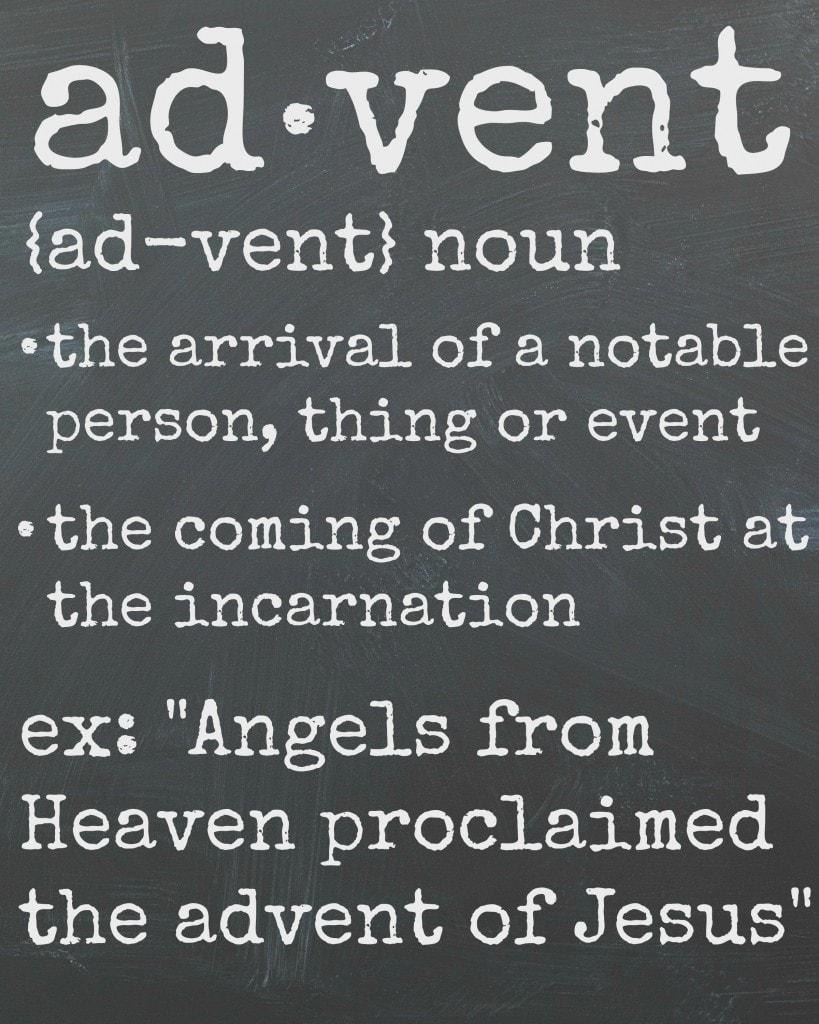 Advent Definition Printable