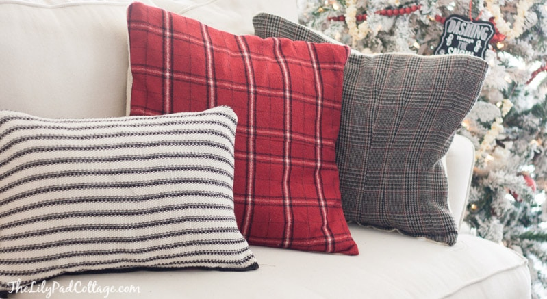 sweater pillows & DIY Christmas pillow tutorials pillowsntoast.com