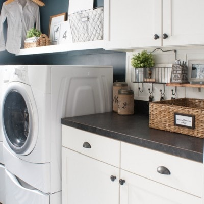 Navy Laundry Room Makeover and a Giveaway
