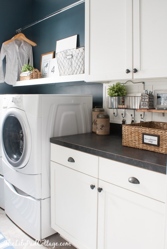 Navy Laundry room decor
