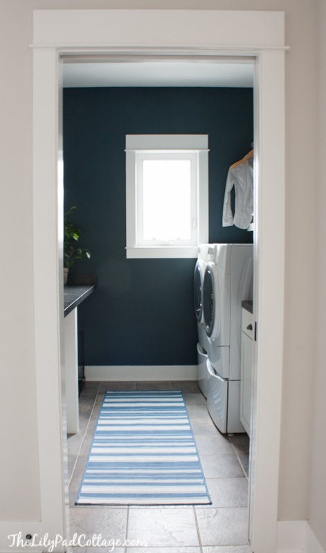 Navy Laundry Room Makeover