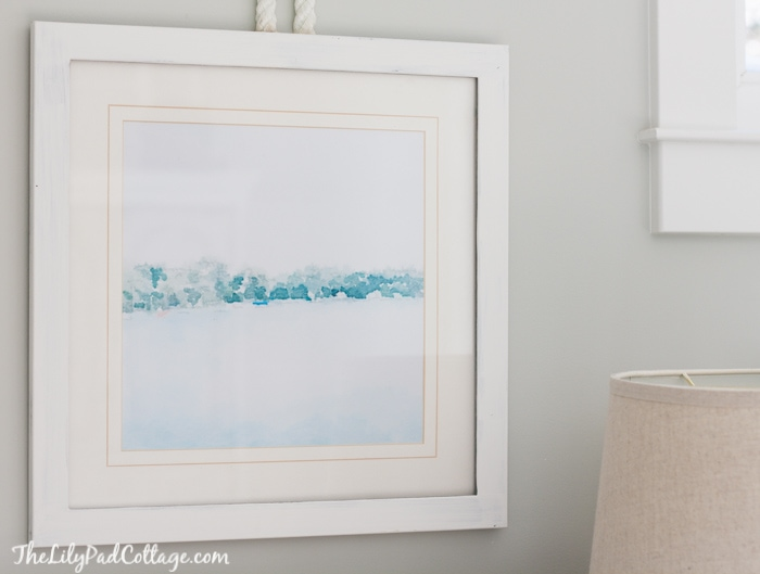 DIY Watercolor wall art