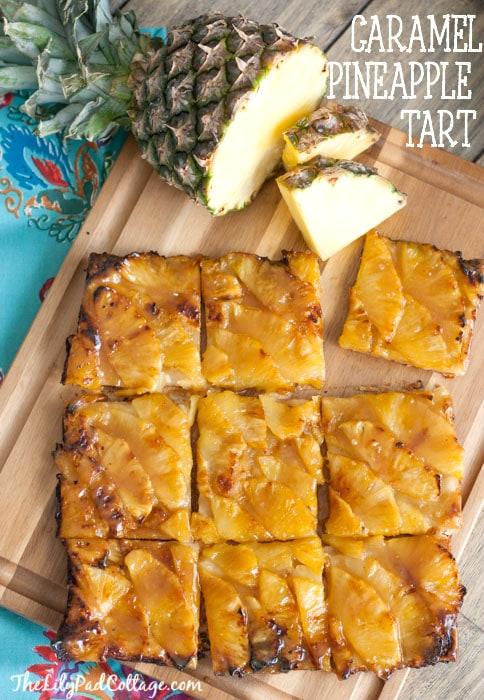 Caramel Pineapple Tart