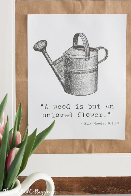 Gardening Printable