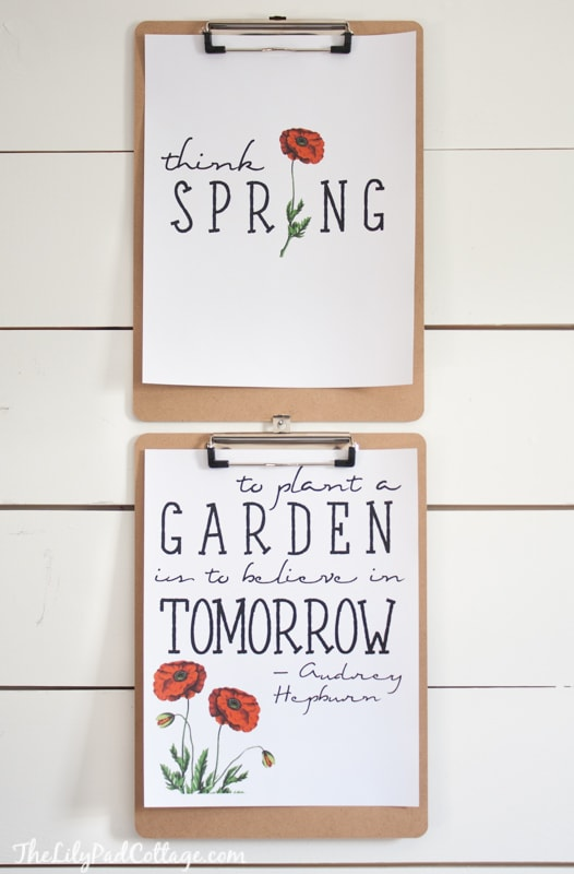 Spring quotes and Printables