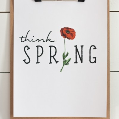 FREE Think Spring Printable