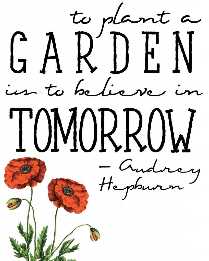 Audrey Hepburn spring quote