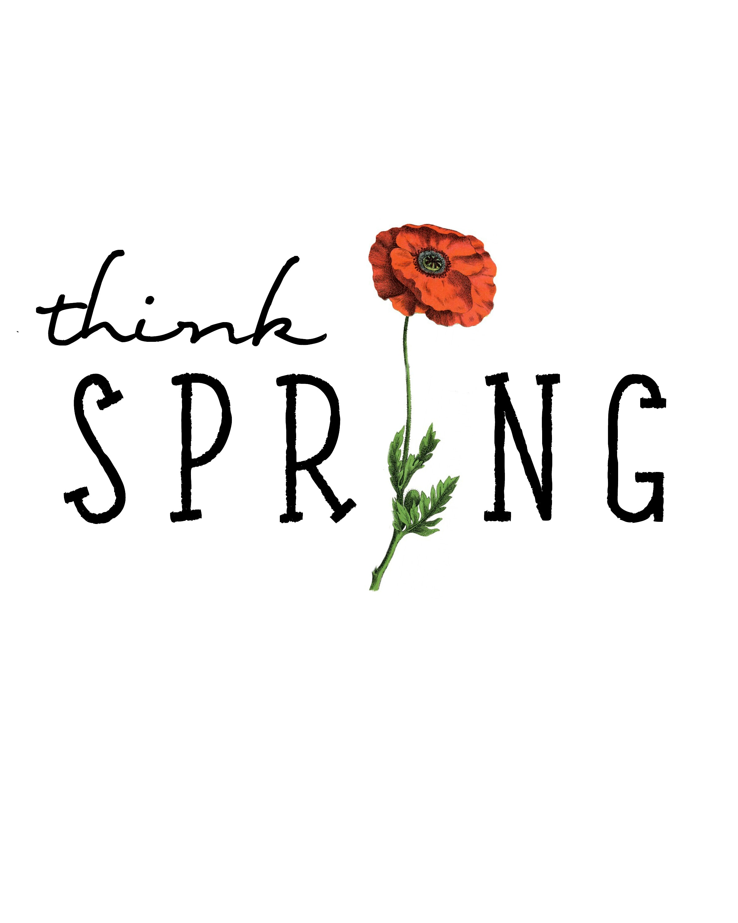FREE Think Spring Printable - The Lilypad Cottage