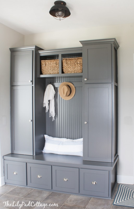 Grey Mudroom Builtins