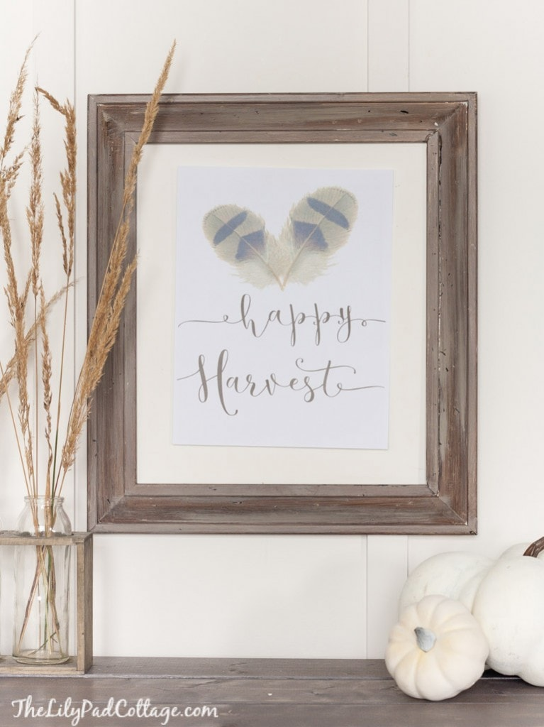 Free Happy Harvest Fall Printable