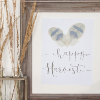 Happy Harvest Printable + 23 Free Printables