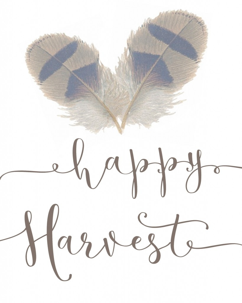 Happy Harvest Printable