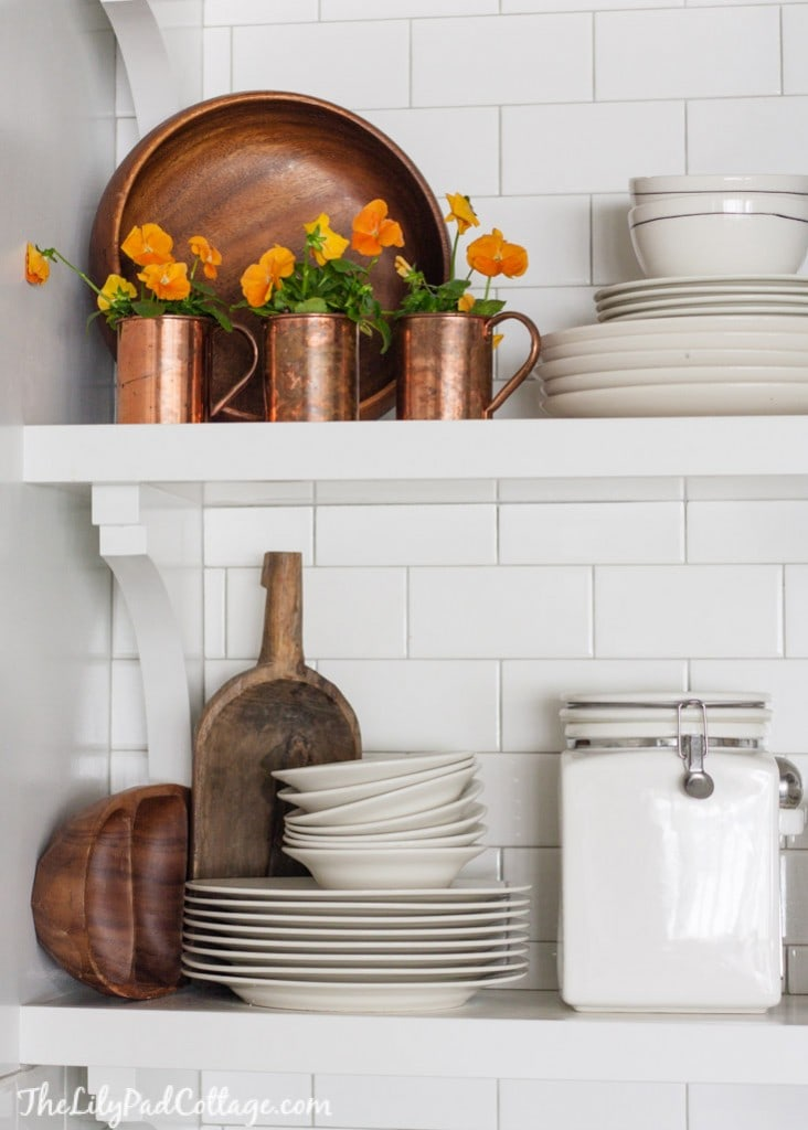 White Kitchen fall accents