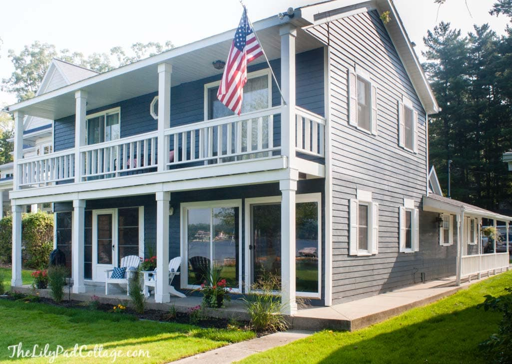 Navy And White Exterior Paint