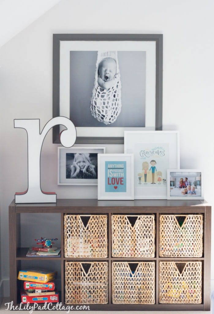 Colorful Playroom Storage