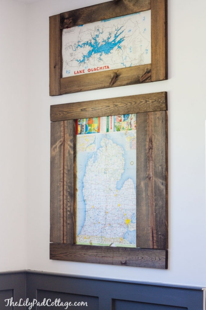 Playroom DIY Vintage Map Wall Art