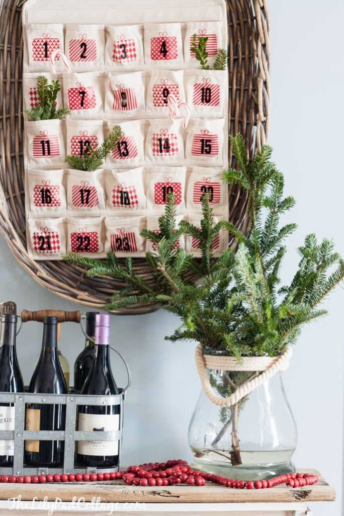 Red and White Advent calendar