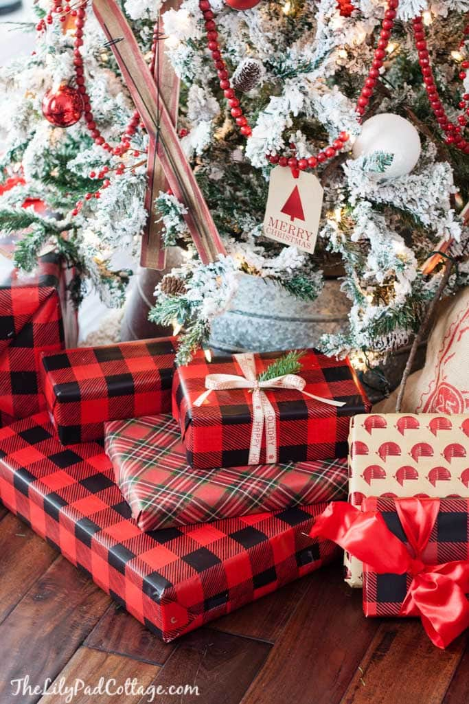 plaid christmas wrapping paper