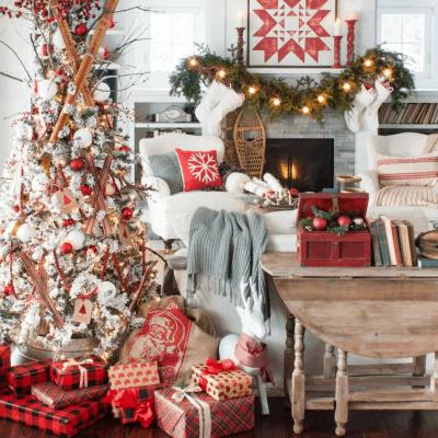 Cozy Ski Lodge Inspired Christmas Tour