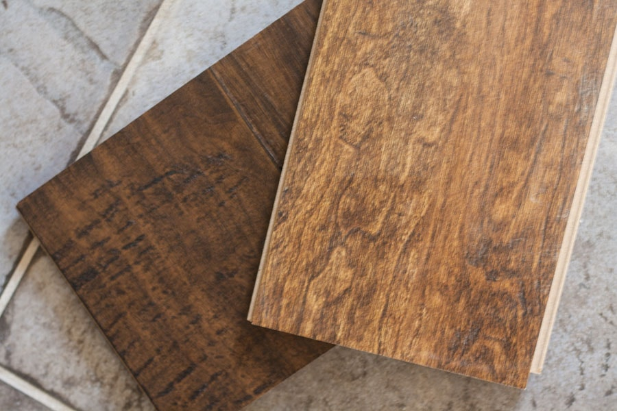 Laminate wood floor sample