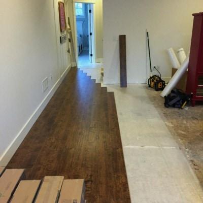 Laminate Wood Floor – no more carpet!