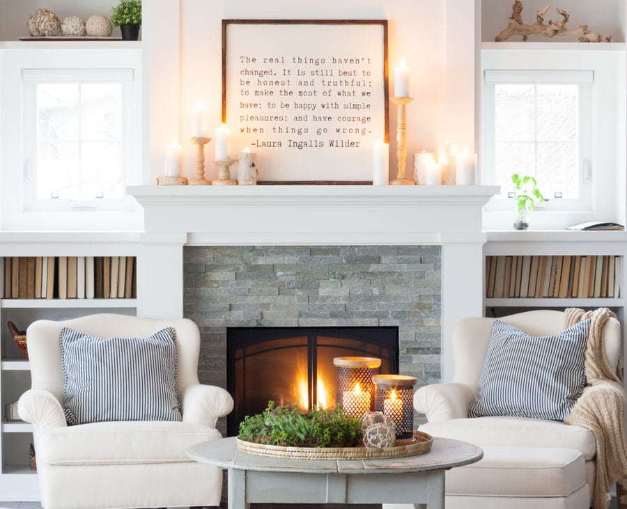 Neutral Winter Decor