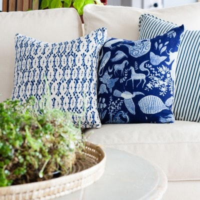DIY Anthropologie Napkin Throw Pillows