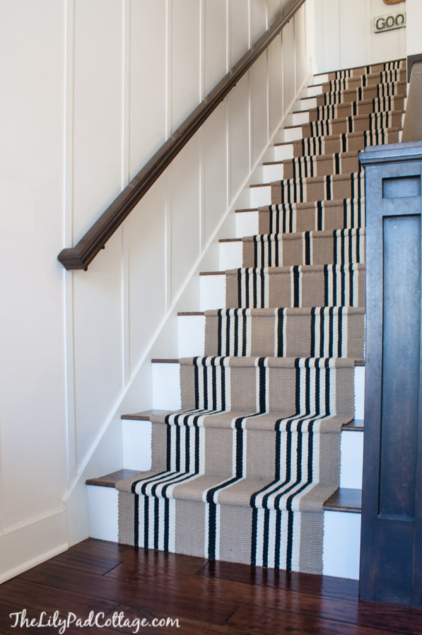 Merveilleux Stair Runner And Laminate Floor Staircase DIY