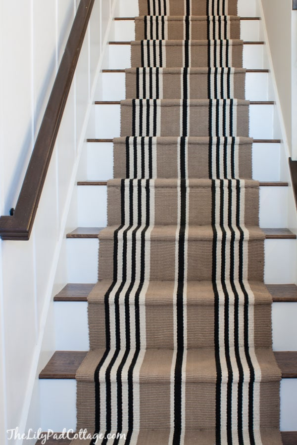 Laminate Flooring On Stairs Stair runner and Laminate floor staircase DIY