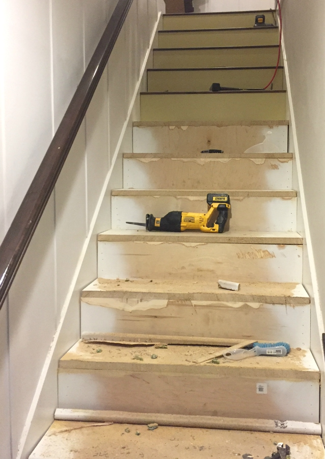 garage conversion ideas with staircase - Stairway Makeover Swapping Carpet for Laminate The