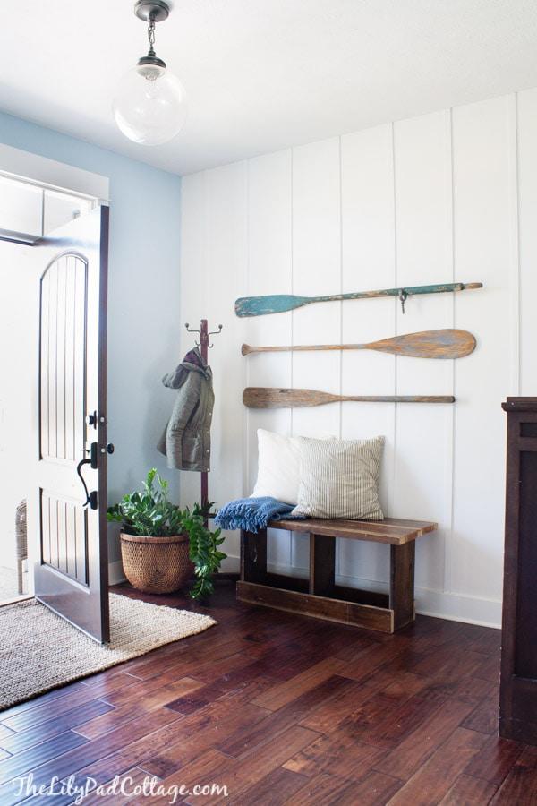 Oars on the wall