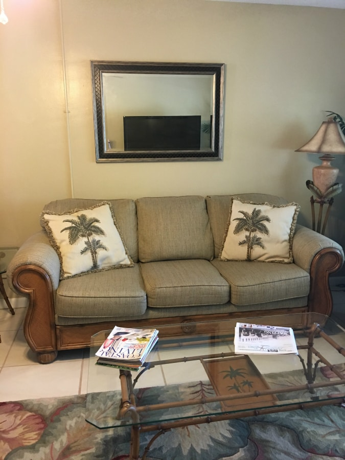 Beach Condo Living Room Decor - Before and Afters - The Lilypad Cottage