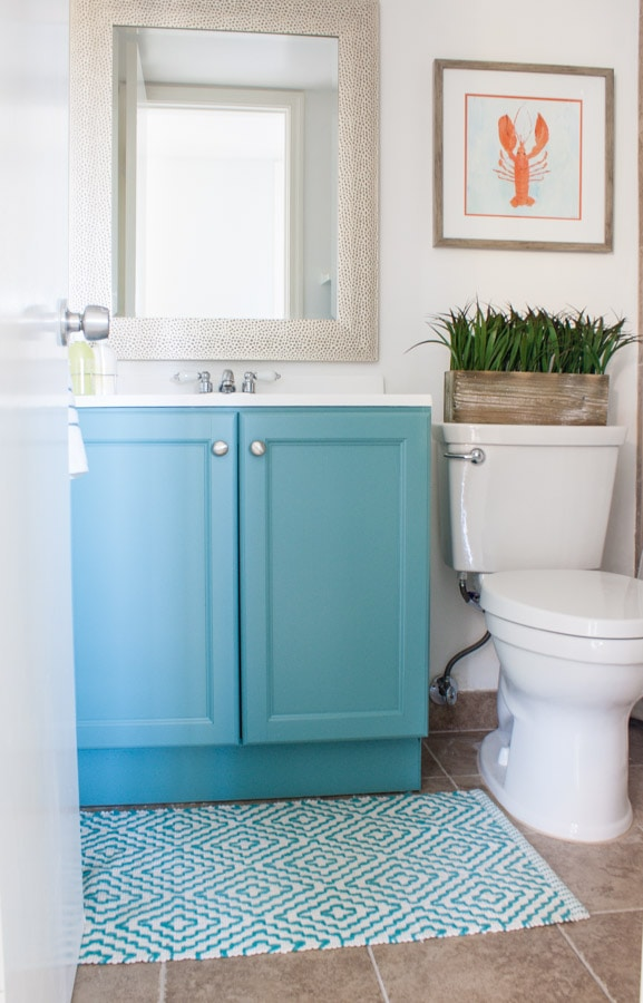 Small Coastal Bath Decor