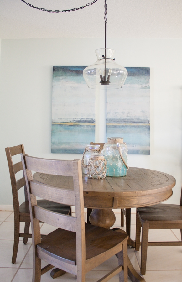 Coastal Dining Room Decor The Lilypad Cottage Mesmerizing Coastal Living Room Design