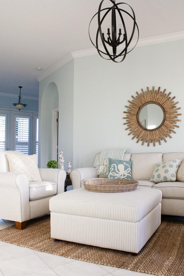 Coastal Florida living room decor