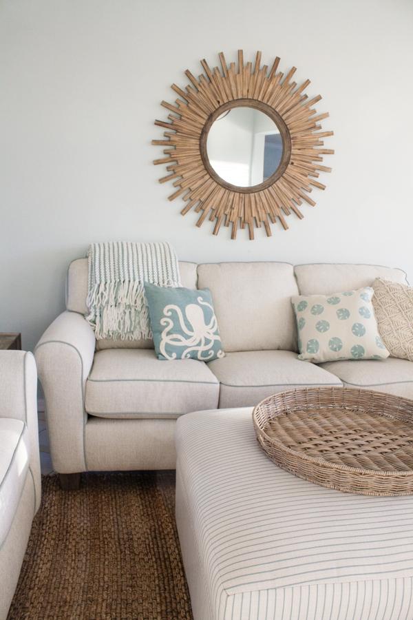 Beach Coastal Living Room Decor