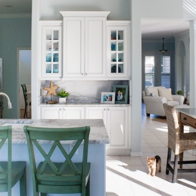 Coastal Kitchen and Family Room