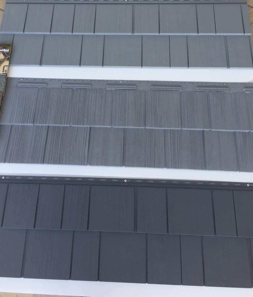 Exterior house colors 50 shades of grey siding the for Grey vinyl siding colors